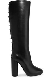Balenciaga Studded leather knee boots