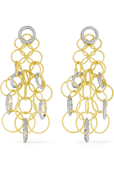 Buccellati - Hawaii 18-karat Yellow And White Gold Diamond Earrings