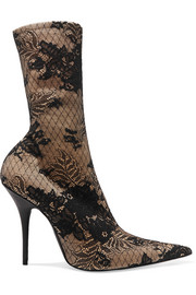 Balenciaga Lace and Spandex sock boots