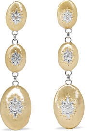 Macri 18-karat yellow and white gold diamond earrings