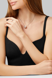 Pomellato Nudo Solitaire 18-karat white and rose gold diamond necklace