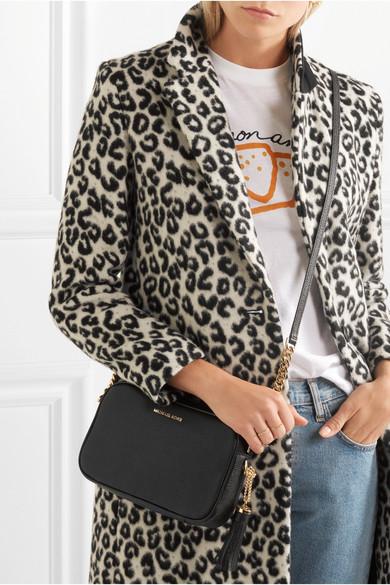 a78eba991b89 MICHAEL Michael Kors. Ginny Camera medium tasseled textured-leather  shoulder bag
