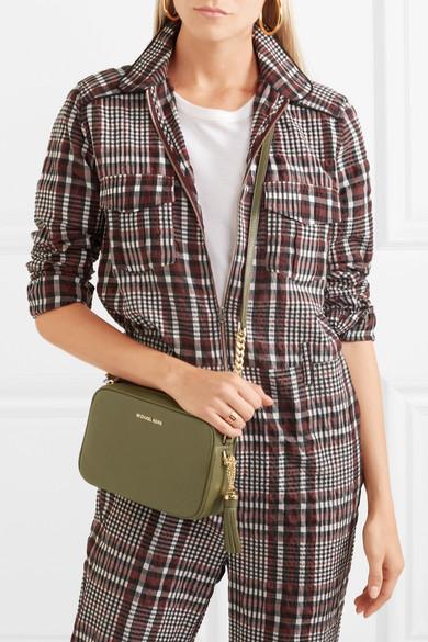 ba8261d1bc94 MICHAEL Michael Kors. Ginny Camera medium tasseled textured-leather  shoulder bag