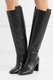 Emmett leather knee boots