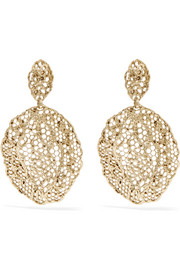 Aurélie Bidermann Dentelle gold-plated earrings