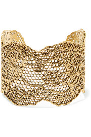 Aurélie Bidermann Lace gold-plated cuff