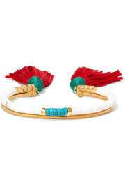 Aurélie Bidermann Sioux gold-plated, stone and tassel bracelet