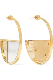Aurélie Bidermann Bianca gold-plated mirrored earrings