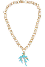 Aurélie Bidermann Capri gold-plated resin necklace
