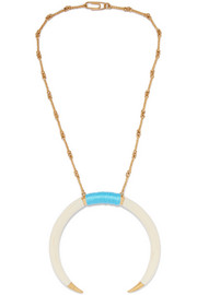Aurélie Bidermann Caftan Moon gold-plated resin necklace