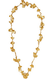 Aurélie Bidermann Tangerine gold-plated necklace