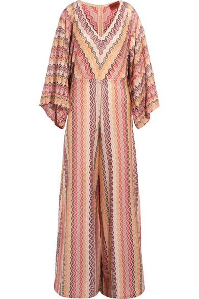 Missoni - Metallic Crochet-knit Jumpsuit - Pink