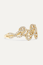 Tatouage 9-karat gold diamond ring