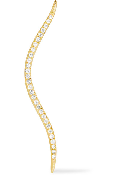 Anissa Kermiche - 14-karat Gold Diamond Earring