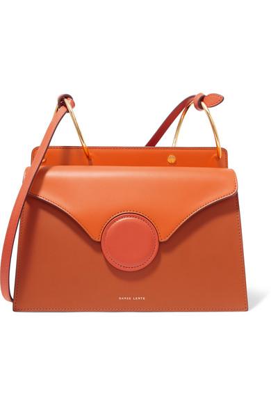 Danse Lente - Phoebe Leather Shoulder Bag - Orange