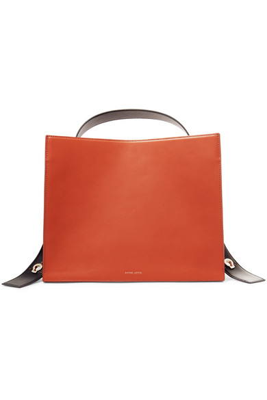 Danse Lente - Young Leather Tote - Orange