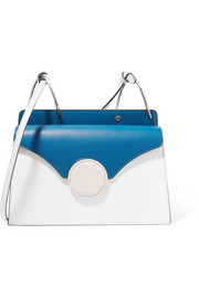 Phoebe color-block leather shoulder bag