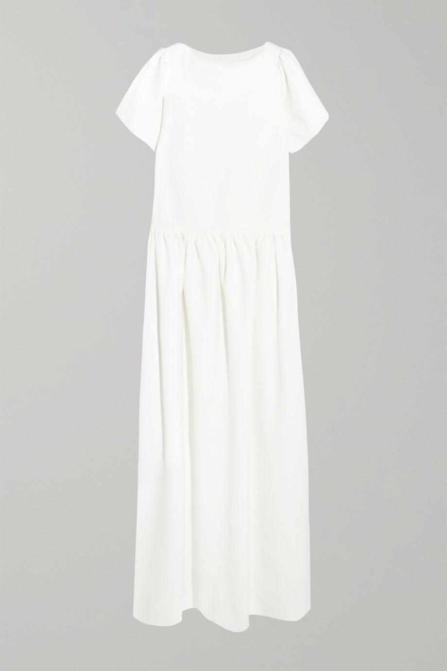 Halfpenny London Stella drop-waist crepe de chine gown