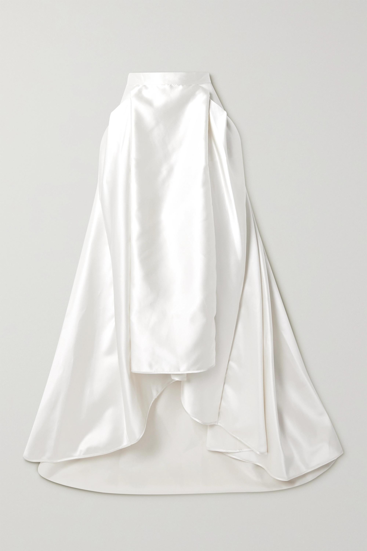 Halfpenny London Georgie pleated satin maxi skirt