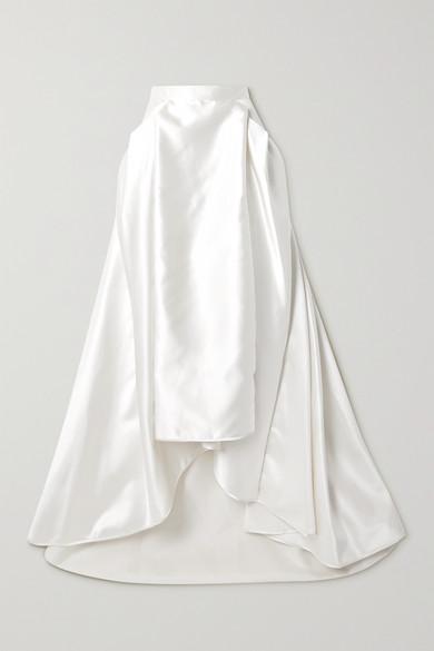 56ee7bb428 Halfpenny London | Georgie pleated satin maxi skirt | NET-A-PORTER.COM