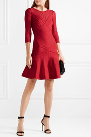 Hervé Léger Kalyn stretch-knit and bandage dress