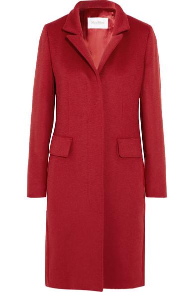 Max Mara - Camel Hair Coat - Red