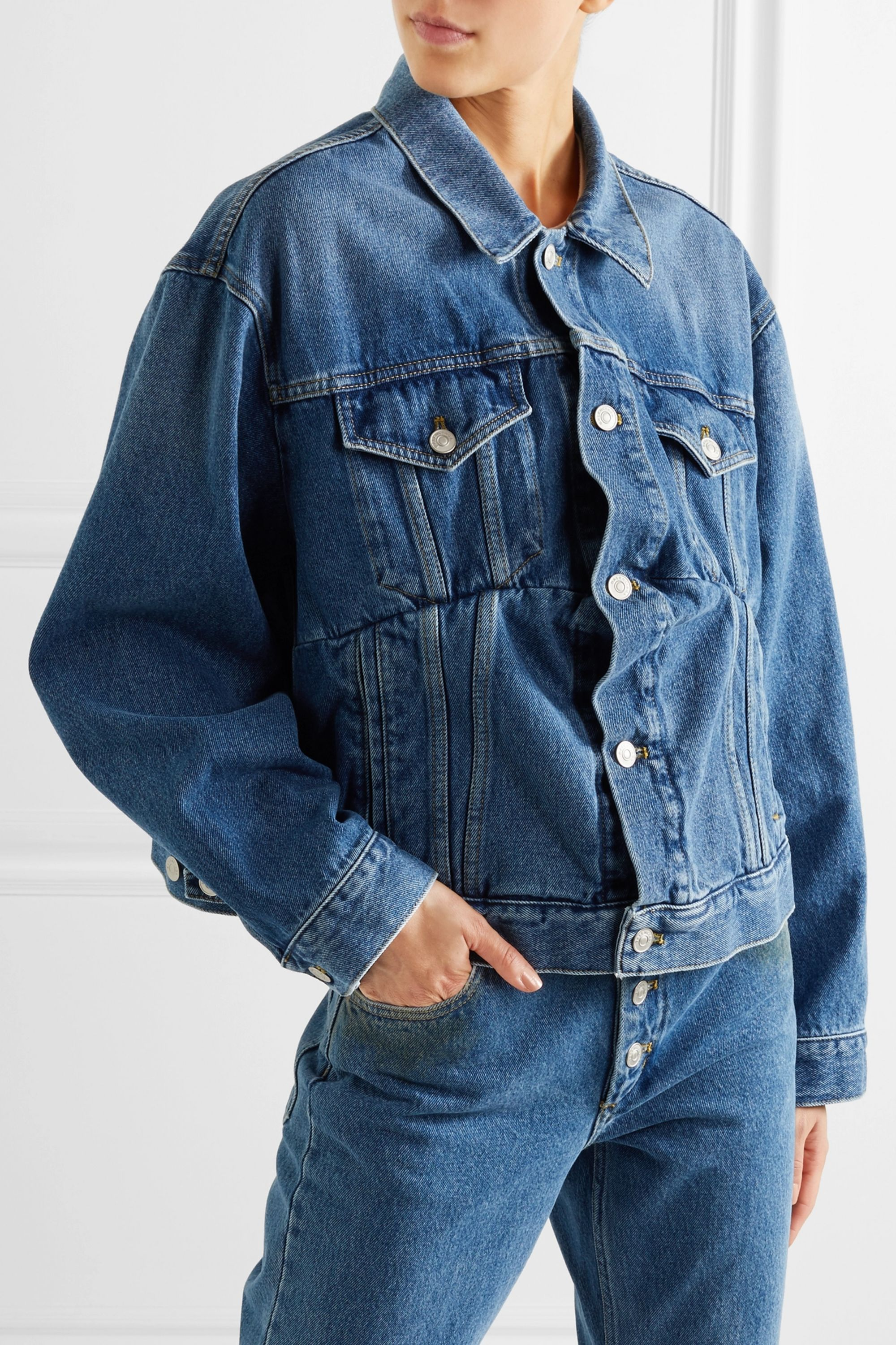 Balenciaga Swing oversized denim jacket