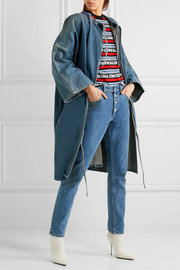 Balenciaga Denim wrap dress