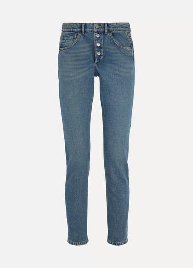 promo code b0c5e e2faf Tube high-rise straight-leg jeans
