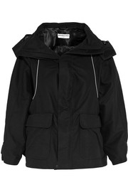 Swing hooded shell parka