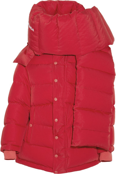 Balenciaga - Oversized Quilted Shell Down Jacket - Red at NET-A-PORTER