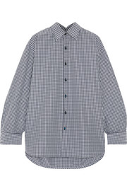 Balenciaga Oversized checked cotton-blend poplin shirt
