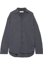 Balenciaga Masculin oversized striped cotton-poplin shirt