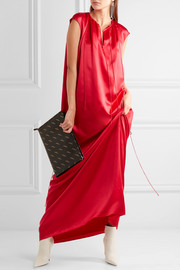 Silk-satin maxi gown