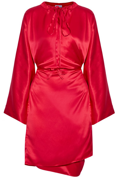 Balenciaga - Silk-satin Dress - Crimson