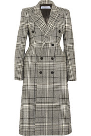 Balenciaga Hourglass double-breasted checked wool-blend coat