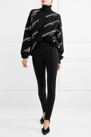 Balenciaga Oversized intarsia wool-blend turtleneck sweater