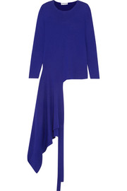 Balenciaga Asymmetric stretch-knit wrap top
