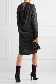 Balenciaga Draped washed cotton-jersey dress