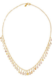 Pippa Small 18-karat gold sapphire necklace