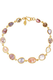 Pippa Small 18-karat gold shell bracelet