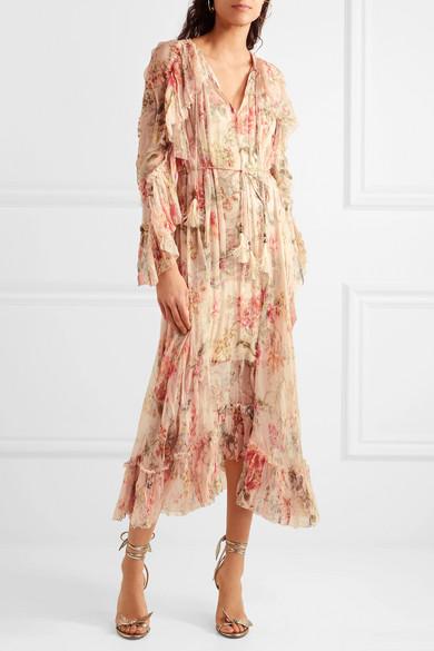 Zimmermann | Mercer Floating ruffled floral-print silk-georgette ...