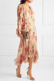 Zimmermann Mercer Floating ruffled floral-print silk-georgette dress