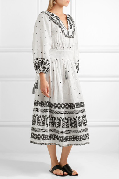 Zimmermann divinity tassel trimmed embroidered linen midi for Zimmermann buro