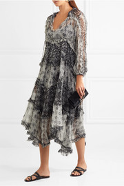 Zimmermann Divinity ruffled floral-print silk-chiffon midi dress