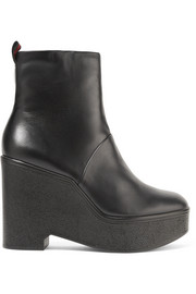 Bisouto leather platform ankle boots