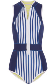 Maui striped neoprene swimsuit