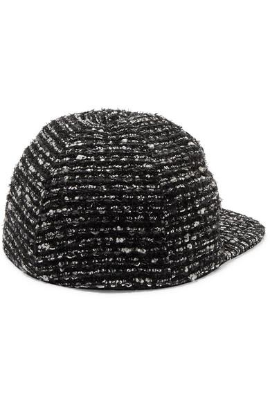 Darien Metallic Cotton-blend Tweed Baseball Cap - Black Eugenia Kim 1Ezs4EKnS