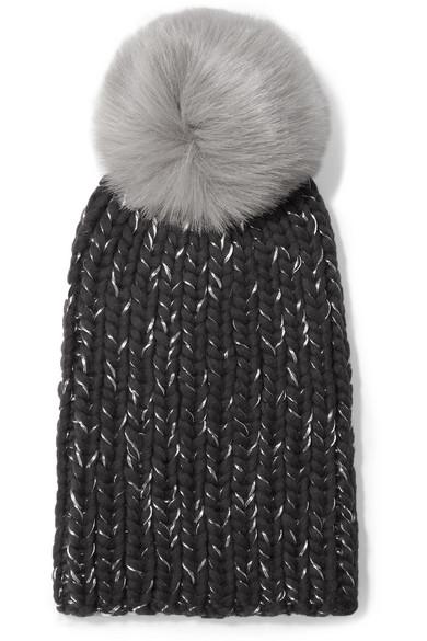 a9fbbc5395cc0 Eugenia Kim. Rain faux fur-trimmed chunky-knit wool beanie