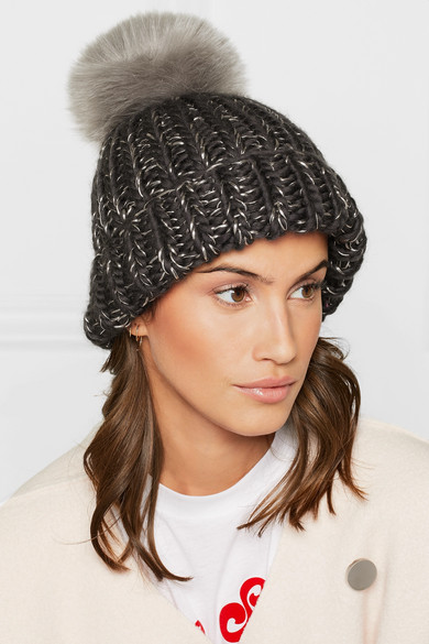 360f403d05d Eugenia Kim Rain Faux Fur Trimmed Chunky Knit Wool Beanie A